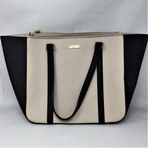 Kate Spade Tote Bag Large Color Block Black Cream